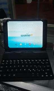 Sale! blue wave tablet with keyboard