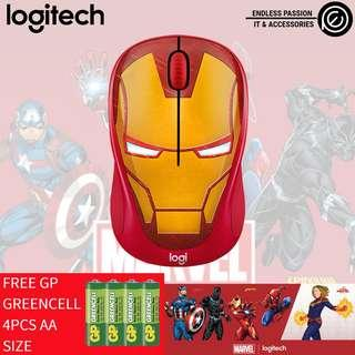 Logitech M238 Marvel Collection Wireless Mouse - Iron Man