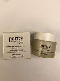 Philosophy Purity Made Simple 亮肌水凝眼部啫喱 Eye Cream 15 mL