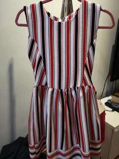 Stripe dress with lining
