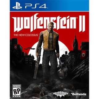 PS4 WOLFENSTEIN 2 The New Colossus
