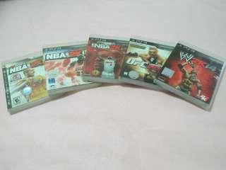 Ps3 Sport game(5 for $10)