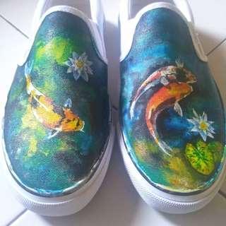 Custom painted artshoes