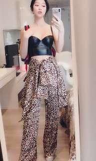 Topshop animal print silk  trousers (brand new with tag)