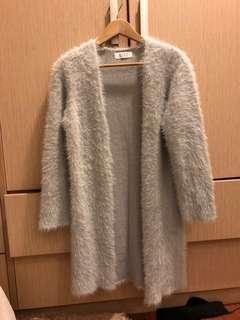 🚚 Lowrys farm毛海灰色長版外套