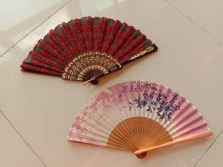 "Folding fan (Japanese traditional ""SENSU"") 2pcs Made in Japan"