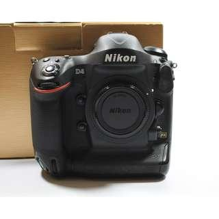 (SC:18275)Nikon D4 Body(3500sgd)