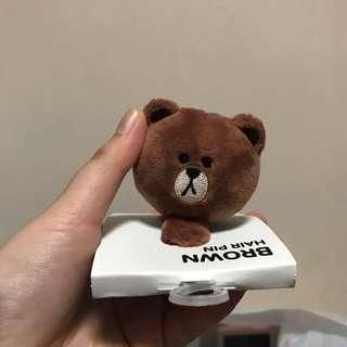 🚚 Line friends Brown Hair Clip