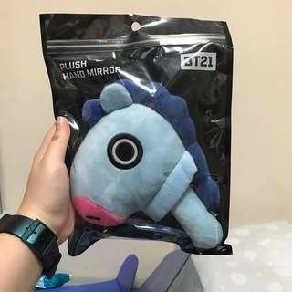 🚚 BT21 Mang Plush Hand Mirror