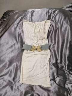 White tube dress