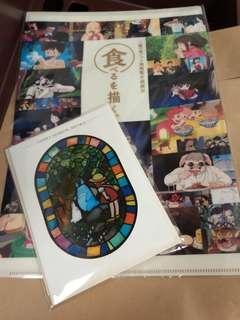 日本 三鷹吉卜力美術館 紀念商品  文件套 +座枱明信片 連原裝包裝紙袋