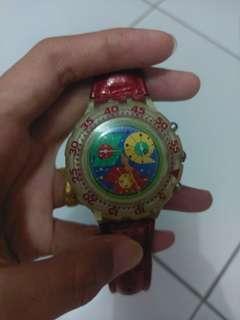 Jam tangan Swatch chrono leather