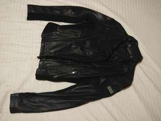Authentic Calvin Klein Black Leather Jacket
