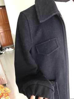 🚚 TOPSHOP學院拉鍊式深藍挺版外套