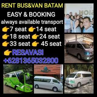 BATAM RENT BUS &VAN(http://www.wasap.my/+6281365032800