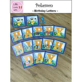 Pokemon Birthday Letters (Free Normal Mail)