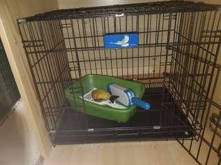 貓籠 2尺 送貓砂盆 玩具 掃貓毛棒