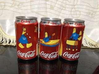 可口可樂 2004 雅典奧運會 一套三罐