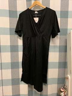 (REDUCED) Black Dress with Belt