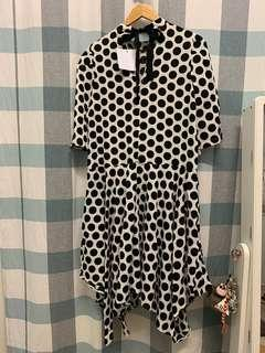 (NEW) Loose Polka Dot Dress