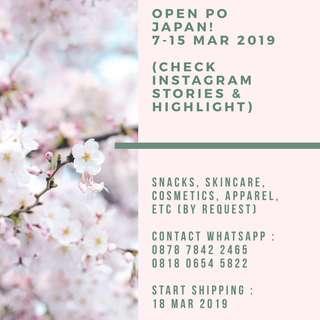 OPEN PO JAPAN 7-15 Mar 2019