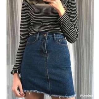🚚 Denim A Line Skirt