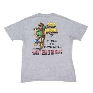 Vintage Wrangler 90's Cowboy Gold Buckle Printed T-Shirt
