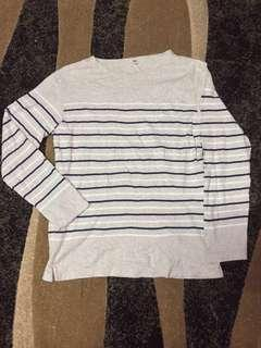 Uniqlo Stripes Shirt Long Sleeve