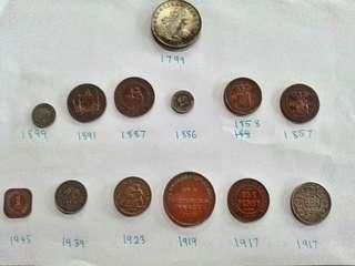 Duit syiling lama...purba....harga tiap satu berlainan.