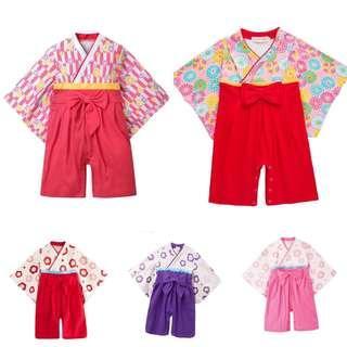 新年必備嬰兒小童日本和服 0-3歲 BB女衫 初生相 有男仔款架 BB仔衫 百日宴 嬰兒攝影 BB攝影
