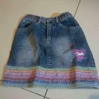 Rok Barbie Denim Jeans Size 8 Preloved