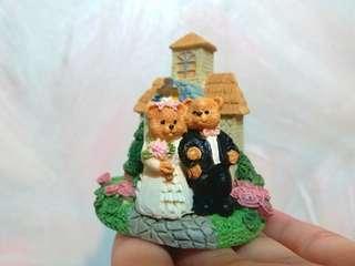 全新 結婚禮物 家居擺設 教堂 熊熊模型 連包裝盒$35/1 (只有1個)