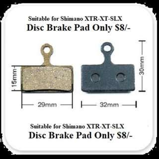 Suitable for Shimano XTR-XT-SLX Disc Resin Brake Pads ONLY @ $8/-