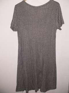 Forever21 grey midi dress