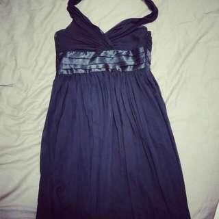 黑色綁帶洋裝