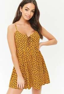 Forever 21 Lace Up Floral Dress