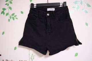 黑色短牛仔褲