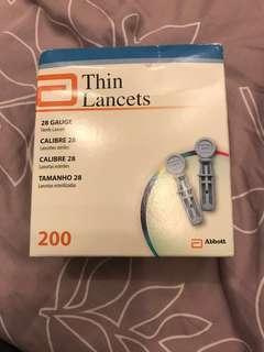 Abbot thin lancets