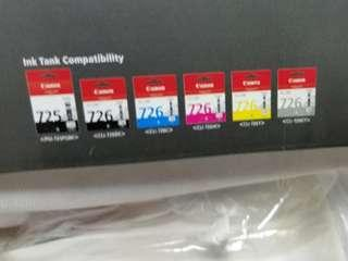 Canon MG8270 printer 726 inkjet cartridges(x11) 墨水
