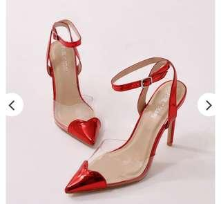 Public Desire Red Heart Throb Heels