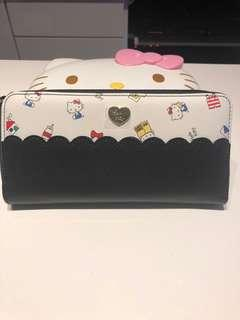 Hello Kitty Black N White Long Wallet