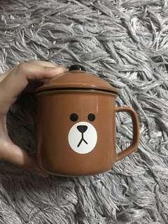 LINE - brown mug