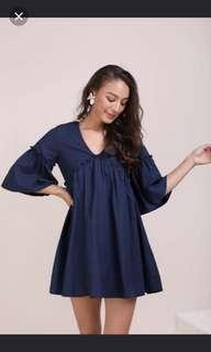 TTR Babydoll Navy Dress