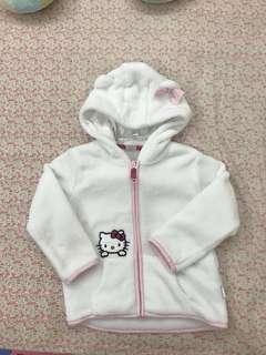 🚚 (近新)H&M Hello Kitty雪白毛外套