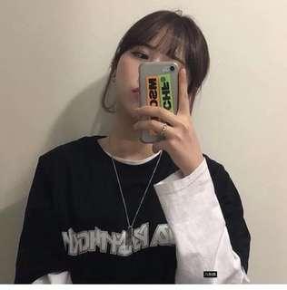 #80 Ulzzang unisex graphic word imprint shirt
