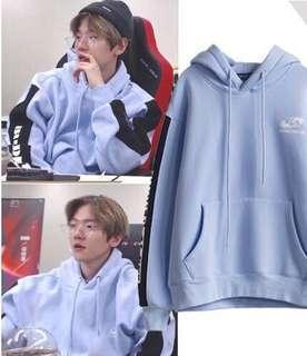"#84 EXO baekhyun ""buried alive"" pastel blue hoodie"