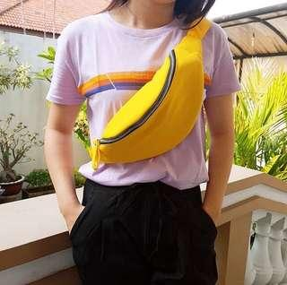 Unisex canvas waistbag (yellow)