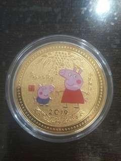 Peppa Pig GOLD Commemorative Coin