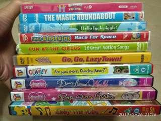 外國版 兒童英文 DVD 10隻