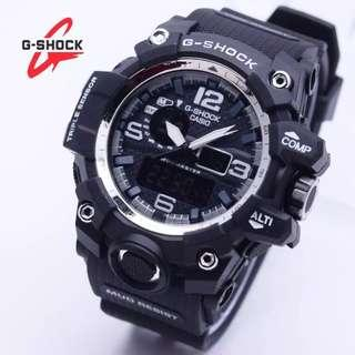 TERMURAH!! Jam tangan pria GWG 1000 G-Shock Digital Double Time Rubber